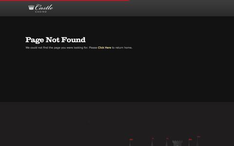 Screenshot of Press Page castlecasino.com - Page not found   Castle Casino - captured Sept. 19, 2014