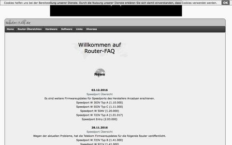 Screenshot of Home Page router-faq.de - Router-FAQ.de: FAQ zu Routern, FRITZ!Boxen, Windows uvm. - captured Dec. 4, 2016