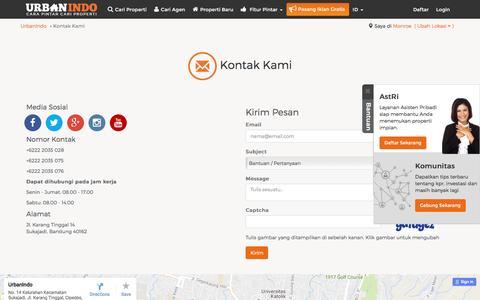 Screenshot of Contact Page urbanindo.com - Kontak Kami - captured Aug. 21, 2016