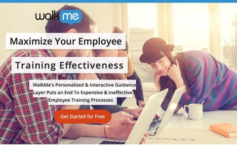 Screenshot of Landing Page walkme.com - Maximize Your Employee Training Effectiveness - WalkMe™ - Digital Adoption Platform - captured Sept. 27, 2018