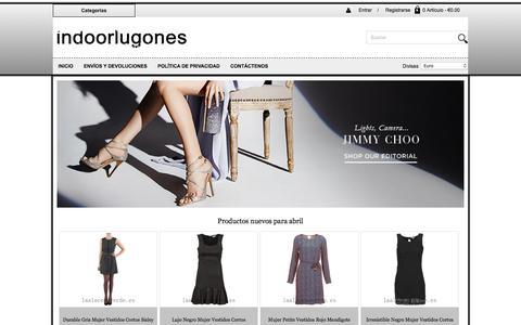 Screenshot of Home Page indoorlugones.es - Precio razonable España Shorts,España Skirts Despeje,España Trousers - captured April 28, 2018