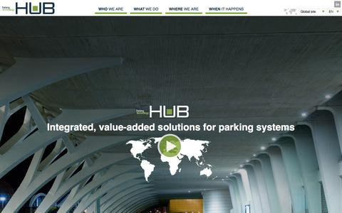 Screenshot of Home Page zeag.com - HUB Parking Technology - Integrated, value-added solutions for parking systems - captured Jan. 25, 2015