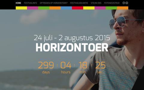 Screenshot of Home Page horizontoer.nl - Horizontoer - Een beleving die je raakt! - captured Sept. 30, 2014