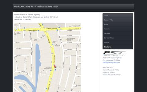 Screenshot of Maps & Directions Page pstcomputers.com - Directions - captured Oct. 1, 2014