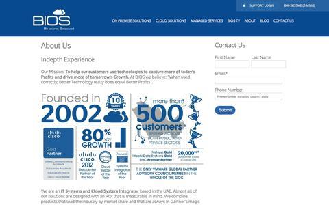 Screenshot of About Page biosme.com - Systems Integrator   System Integrators   UAE   Dubai   Abu Dhabai - captured May 31, 2017