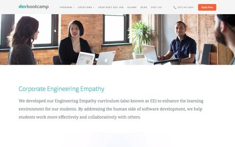 Corporate Engineering Empathy | Dev Bootcamp