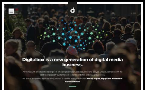 Screenshot of Home Page digitalbox.com - Digitalbox | Engaging Audiences - captured April 12, 2016