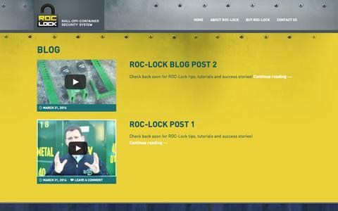 Screenshot of Blog roc-lock.com - Blog - captured Sept. 30, 2014