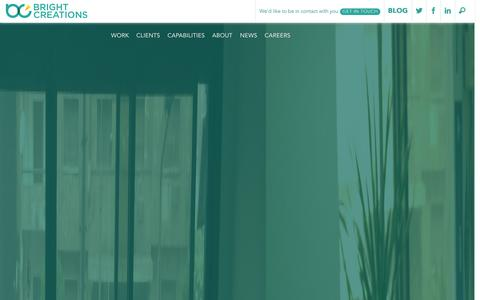 Screenshot of Home Page bright-creations.com - Bright Creations   Digital Agency & Software House - captured Sept. 19, 2014