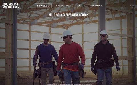 Screenshot of Jobs Page mortonbuildings.com - Careers | Morton Buildings - captured July 14, 2019