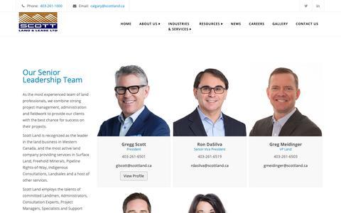 Screenshot of Team Page scottland.ca - Our Team - Scott Land & Lease Ltd. - captured Oct. 2, 2018