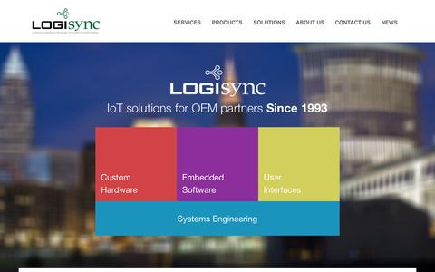 Screenshot of Home Page logisync.com - LogiSync - A distinguished history of creating embedded systems and IoT solutions for OEM's since 1993 - captured May 21, 2017