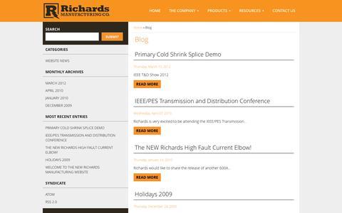 Screenshot of Blog richards-mfg.com - Blog | Richards Manufacturing - captured Dec. 1, 2016
