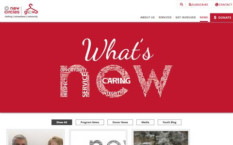 Screenshot of Press Page newcircles.ca - News | New Circles - captured Nov. 29, 2016