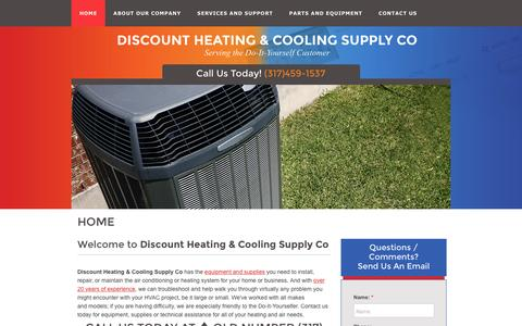 Screenshot of Home Page heat-cool.com - Home | Discount Heating & Cooling Supply Co - captured June 23, 2016