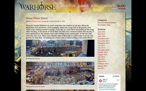 Screenshot of Blog warhorsestudios.cz - Warhorse studios: BLOG - captured Oct. 29, 2014