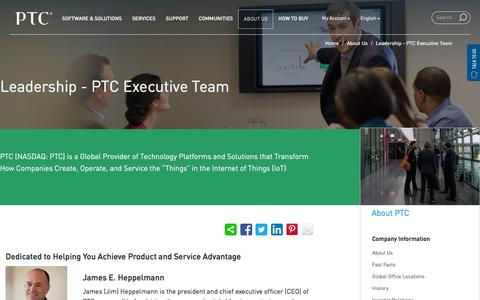 Screenshot of Team Page ptc.com - PTC Executive Team | PTC - captured Jan. 13, 2016