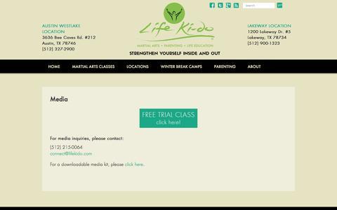 Screenshot of Press Page lifekido.com - Media - - captured Nov. 7, 2016