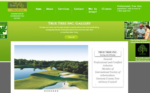 Screenshot of Home Page truetreeinc.com - True Tree inc - Tree Care, Lawn Care, Tree Removal - captured Aug. 17, 2015