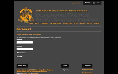 Screenshot of Login Page cssdsc.com - Your Account - captured Sept. 26, 2014
