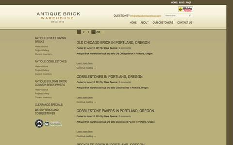 Screenshot of Press Page antiquebrickwarehouse.com - News – Antique Brick Warehouse - captured Sept. 30, 2014
