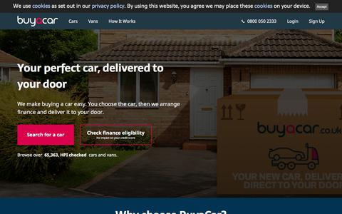 Screenshot of Home Page buyacar.co.uk - BuyaCar: the easy way to get a great car deal - captured Dec. 2, 2019