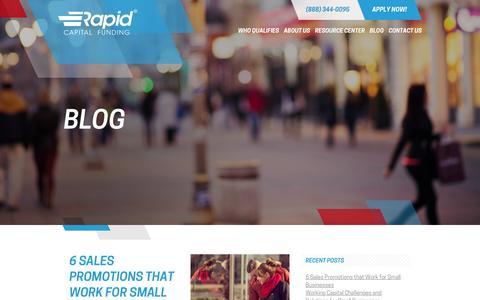 Screenshot of Blog rapidcapitalfunding.com captured Dec. 19, 2016