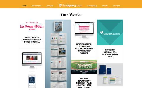 Screenshot of Blog thebynegroup.com - Work | The Byne Group - captured Dec. 13, 2016