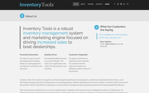 Screenshot of About Page inventory-tools.com - Inventory Tools - About our Company and Services - captured Oct. 3, 2014