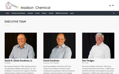 Screenshot of Team Page madchem.com - Leadership – Madison Chemical - captured Nov. 12, 2018