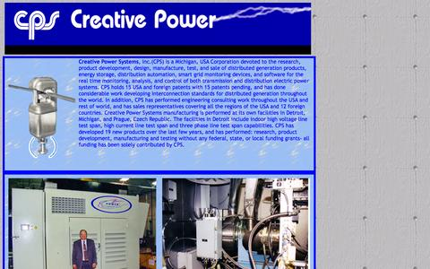 Screenshot of Home Page creativepowersystems.net - Future home of Creative Power Systems Inc - captured Sept. 30, 2014