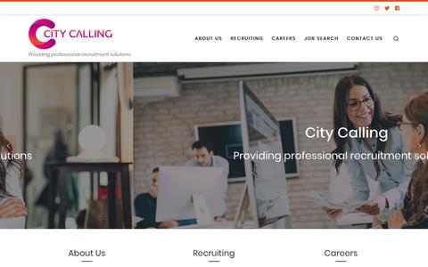Screenshot of Home Page citycalling.com captured Nov. 4, 2018