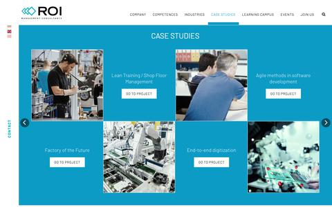 Screenshot of Case Studies Page roi-international.com - Overview all Case Studies - ROI Management Consulting - captured Oct. 20, 2018