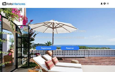 Screenshot of Home Page fotointeriores.com - Fotografía inmobiliaria y apartamentos turísticos - captured Aug. 17, 2018