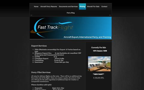 Screenshot of Pricing Page transconferry.com - Pricing | Fast Track Flight | Wade Coggin - captured Oct. 5, 2014