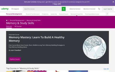 Study Skills and Memory Improvement Online Courses