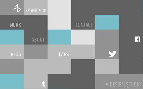 Screenshot of Home Page artsdigital.co - ArtsDigital.co - A design studio. - captured Oct. 4, 2014