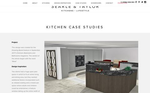Screenshot of Case Studies Page searle-taylor.co.uk - Kitchen Case Studies   Searle & Taylor Kitchens & Lifestyle - captured Oct. 19, 2017