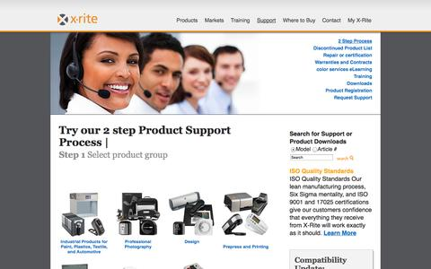 Screenshot of Support Page xrite.com - X-Rite: Support - captured Sept. 22, 2014