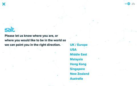 Screenshot of Home Page welovesalt.com - Salt Digital Recruitment – Marketing, Creative, Sales, Tech - captured Sept. 30, 2018
