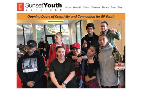 Screenshot of Home Page sunsetyouthservices.org - Home | Sunset Youth Services - captured Nov. 7, 2018
