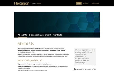 Screenshot of About Page hex-group.com - About us » Hexagon - captured Oct. 3, 2014