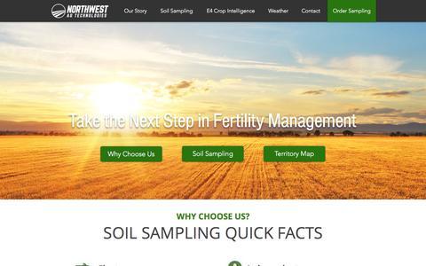 Screenshot of Home Page nwagtech.com - Northwest Ag Technologies, Independent Soil Sampling - captured Feb. 15, 2016