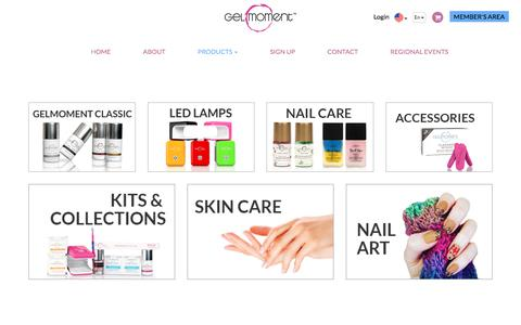 Screenshot of Products Page gelmoment.com - Products | GelMoment.com - captured July 9, 2018