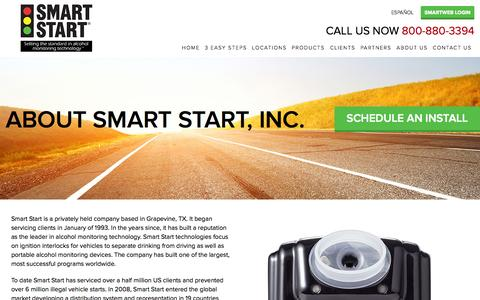 Screenshot of About Page smartstartinc.com - Smart Start Company Info | Smart Start® - captured Nov. 5, 2014