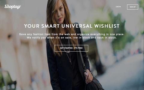 Shoptagr | Your Smart Universal Wishlist