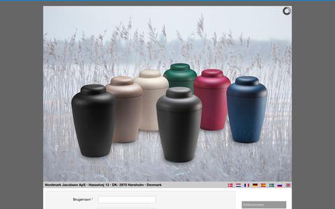 Screenshot of Login Page natureurn.com - NaturUrnen® - The NatureUrn® - captured July 5, 2018