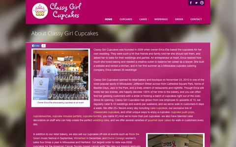 Screenshot of About Page classygirlcupcakes.com - About Classy Girl Cupcakes Milwaukee - captured Sept. 29, 2014