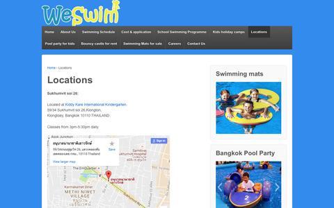 Screenshot of Locations Page swimbangkok.com - Locations | swimbangkok.com - captured Nov. 11, 2016