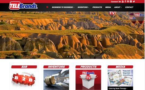 Screenshot of Home Page telebrands.com - Home Đ Telebrands - captured Jan. 15, 2016